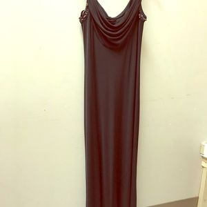 Calvin Klein size 6 long dress. Black with beads